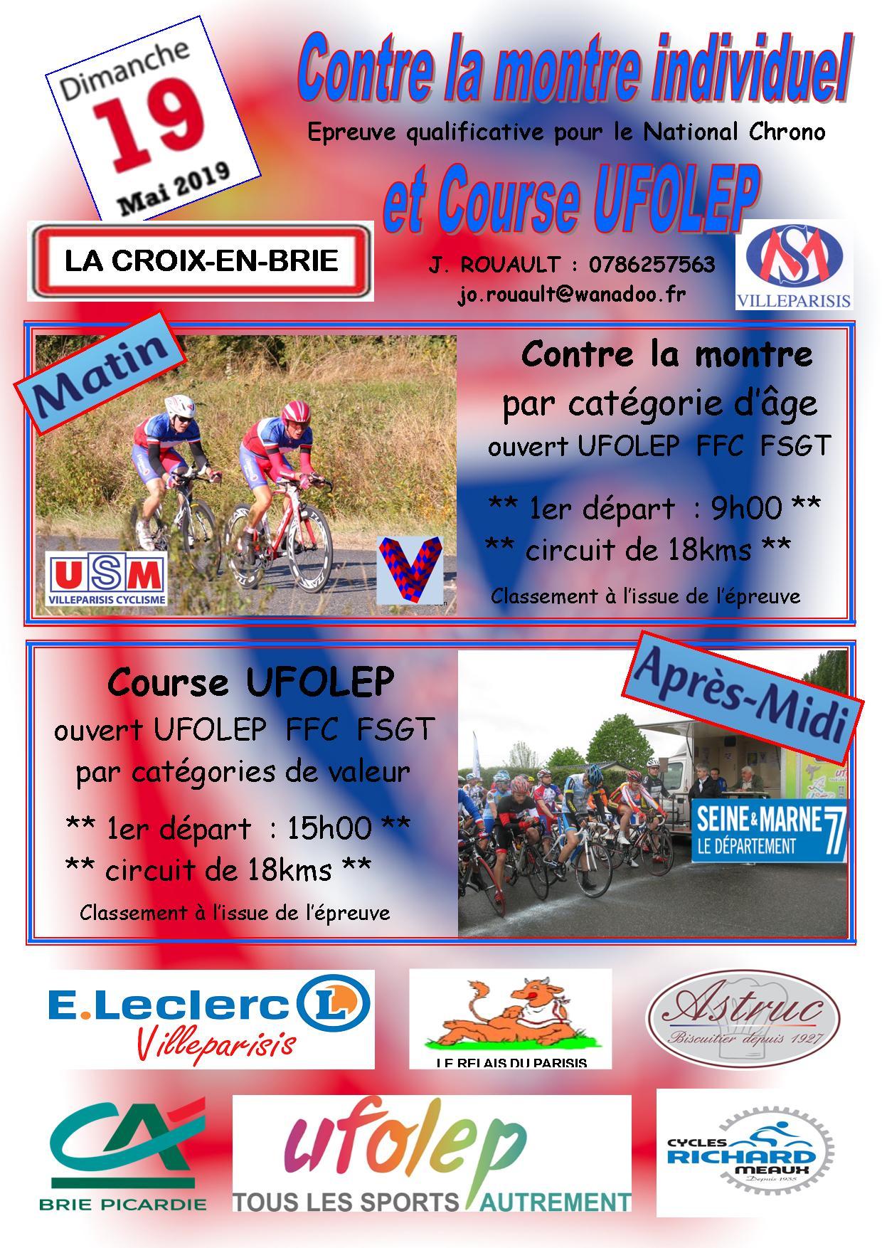 Evenements Sportifs   La croix en brie (77)_UFO   club Cyclisme